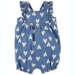 carter's® Heart Romper in Chambray