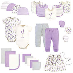Touched by Nature Size 0-6M 25-Piece Garden Organic Cotton Layette Baby Gift Set in Purple
