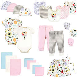 Touched by Nature Size 0-6M 25-Piece Garden Organic Cotton Layette Baby Gift Set in Pink