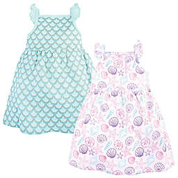 Hudson Baby® 2-Pack Sea Shell Dresses in Purple