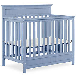 Harbor  4in1 Convertible Mini  Crib in Dusty Blue