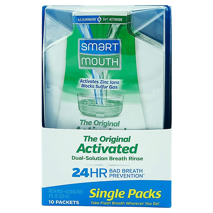Alternate image 1 for Smart Mouth™ Activated Mouthwash™ 10-Count On-The-Go Travel Packs in Fresh Mint