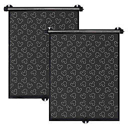 Disney Baby® Auto Roller Shades in Black (Set of 2)
