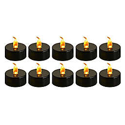 Halloween Tealight Candles in Black (Set of 10)