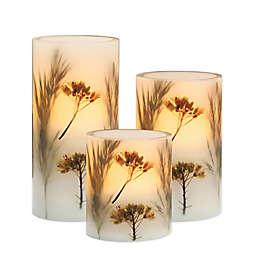 Harvest Basic 3-Piece LED Candle Set