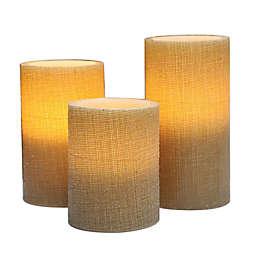 Harvest Basic 3-Piece LED Candle Set in Natural