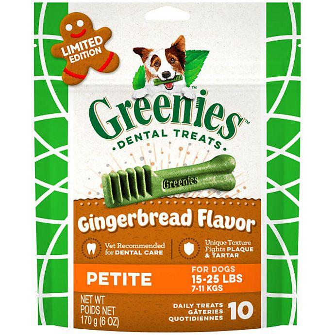 Alternate image 1 for GREENIES™ 10-Count Petite Gingerbread Flavor Dog Dental Treats