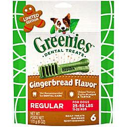 GREENIES™ 6-Count Regular Gingerbread Dog Dental Treats