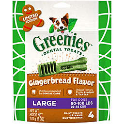 GREENIES™ 4-Count Large Gingerbread Dog Dental Treats