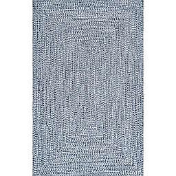 nuLOOM Wynn Braided 8' x 11' Indoor/Outdoor Area Rug in Blue