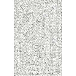 nuLOOM Wynn Braided 12' x 18' Indoor/Outdoor Area Rug in Off White