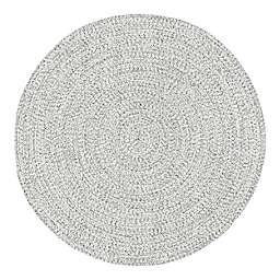 nuLOOM Wynn Braided 5' Round Indoor/Outdoor Area Rug in Off White