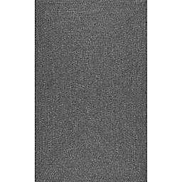 nuLOOM Wynn Braided 12' x 15' Indoor/Outdoor Area Rug in Grey