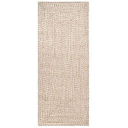 nuLOOM Wynn Braided 3' x 14' Indoor/Outdoor Runner in Tan