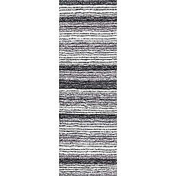 nuLOOM Drey Ombre 3' x 6' Shag Runner in Grey/Multicolor