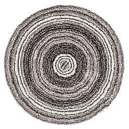 nuLOOM Drey Ombre 6' Round Shag Area Rug in Grey/Multicolor