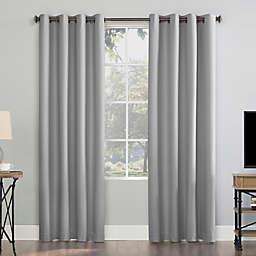 Sun Zero® Array Draft Shield Fleece Blackout Grommet Window Curtain Panel (Single)