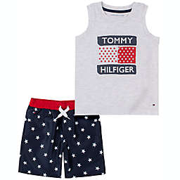 Tommy Hilfiger Size 6-9M 2-Piece Tank Star Shorts Set