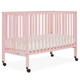 Dream On Me Quinn 2-in-1 Portable Full Size Folding Crib in Pink