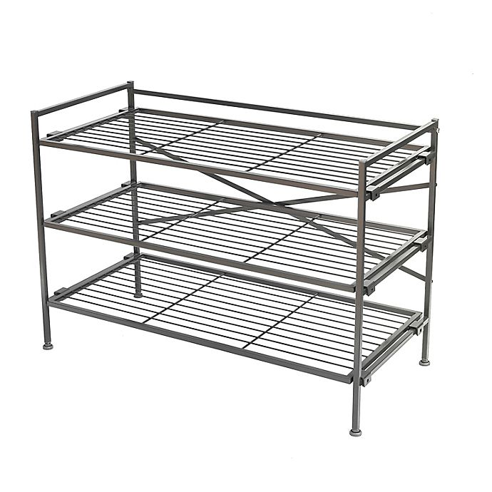 Alternate image 1 for Squared Away™ 3-Tier Stackable Shoe Rack