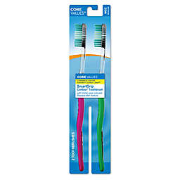 Core Values™ 2-Count SmartGrip Contour Toothbrushes