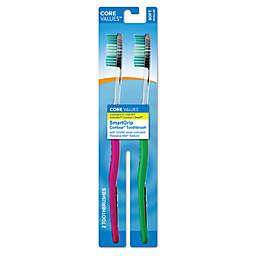 Harmon® Core Values™ 2-Pack SmartGrip Contour® Toothbrushes