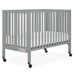 Dream On Me Quinn 2-in-1 Portable Full Size Folding Crib in Cool Grey