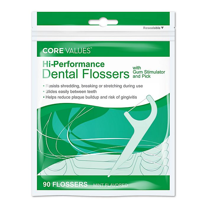 Alternate image 1 for Harmon® Face Values™ 90-Count Hi-Performance Dental Flossers in Mint Flavor