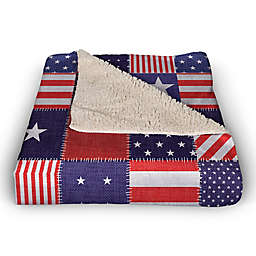 Stars and Stripes 50x60 Throw Blanket