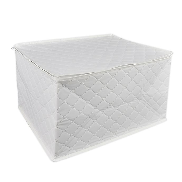 Alternate image 1 for Simply Essential™ Quilted Stemware Storage Set in White
