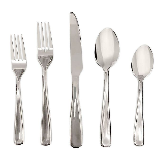 Alternate image 1 for Simply Essential™ Stainless Steel Mirror 20-Piece Flatware Set
