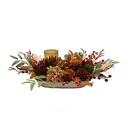 Bee & Willow™ 2-Piece Harvest Floral Hurricane Candle Holder Set