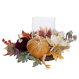Bee & Willow™ Botanical Harvest Hurricane Candle Holder Ring