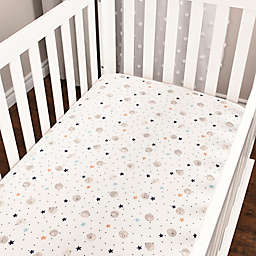 Baby's First by Nemcor Star Waves Cotton Jersey Fitted Crib Sheet