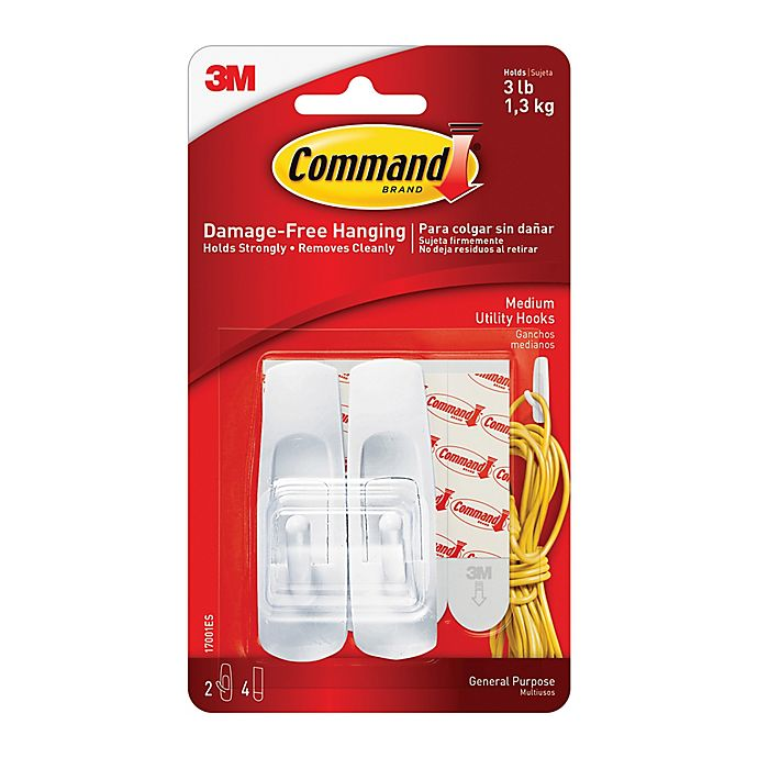 Alternate image 1 for 3M Command™ 2-Count Medium Hooks