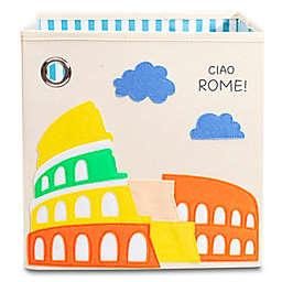 "kaikai & ash® Rome-theme Kid's 11"" Storage Bin in Canvas and Felt"