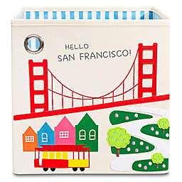 "kaikai & ash® San Francisco-theme Kid's 11"" Storage Bin in Canvas and Felt"