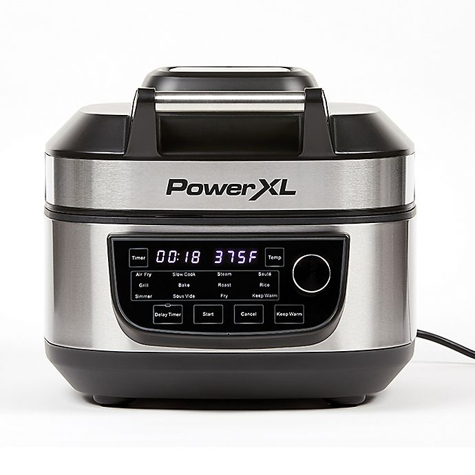 Alternate image 1 for PowerXL Grill Air Fryer Combo in Stainless Steel/Black