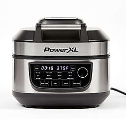 PowerXL Grill Air Fryer Combo in Stainless Steel/Black