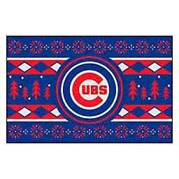MLB Chicago Cubs 19-Inch x 30-Inch Holiday Sweater Mat