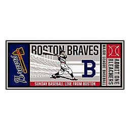 MLB Atlanta Braves 1946 Boston Braves Retro Ticket 2'6 x 6' Runner