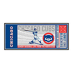 MLB Chicago Cubs 1990 Retro Ticket 2'6 x 6' Runner