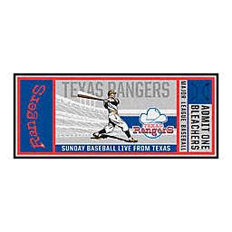 MLB Texas Rangers 1972 Retro Ticket 2'6 x 6' Runner