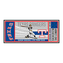 MLB Texas Rangers 1984 Retro Ticket 2'6 x 6' Runner
