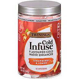 Twinings® Cold Infuse™ Strawberry & Lemon Flavored Cold Water Enhancers 12-Count