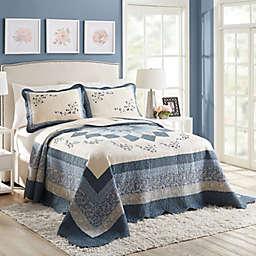 Charlotte King Bedspread in Blue