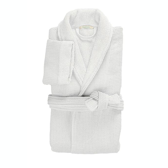 Alternate image 1 for Haven™ Waffle Small Organic Cotton Robe in White