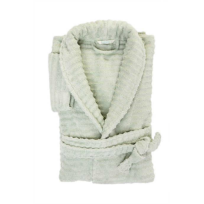 Alternate image 1 for Haven™ Wave Organic Cotton Large/X-Large Robe in Sky Grey