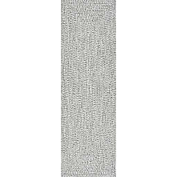 nuLOOM Festival Braided Lefebvre 2-Foot 6-Inch x 8-Foot Runner in Salt and Pepper