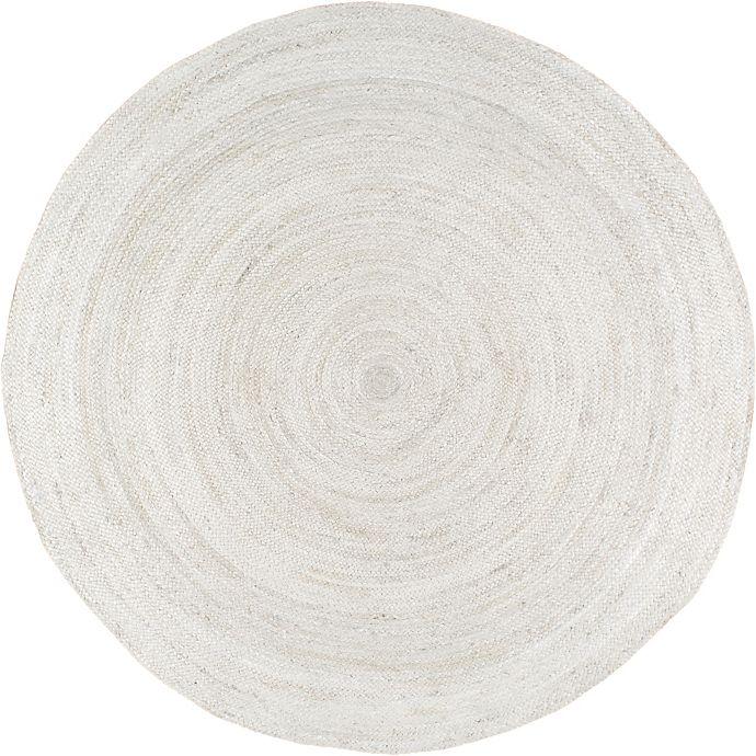 Alternate image 1 for nuLOOM Rigo Jute 6-Foot Round Area Rug in White